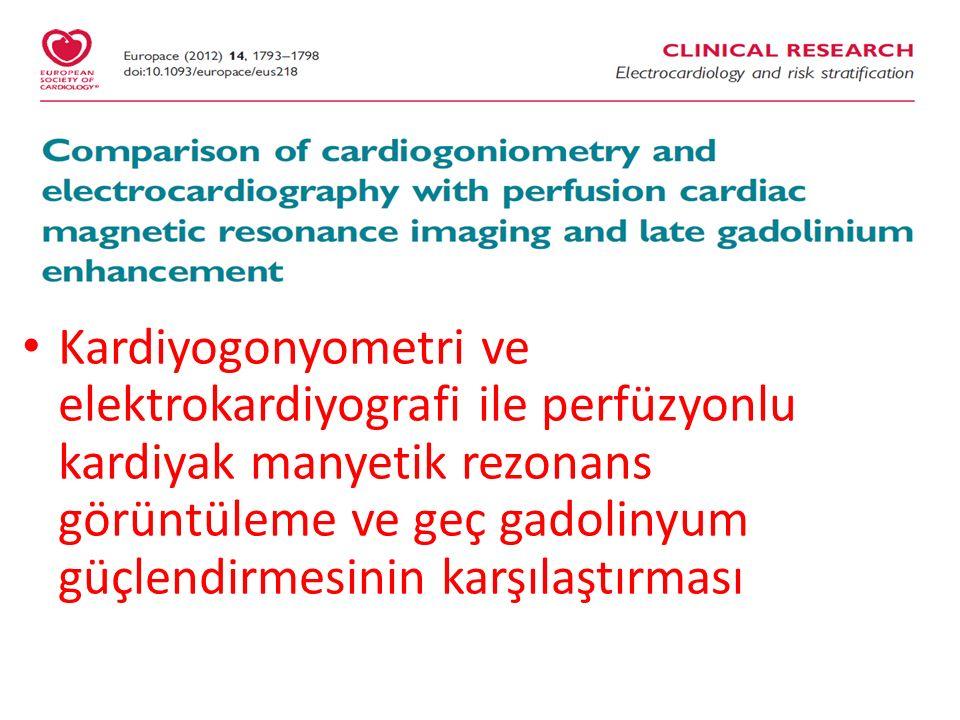 Europace 2012 Kardiyogonyometri %83 doğruluk (hassasiyet %70) ve EKG %63 doğruluk (hassasiyet %35) verdi.