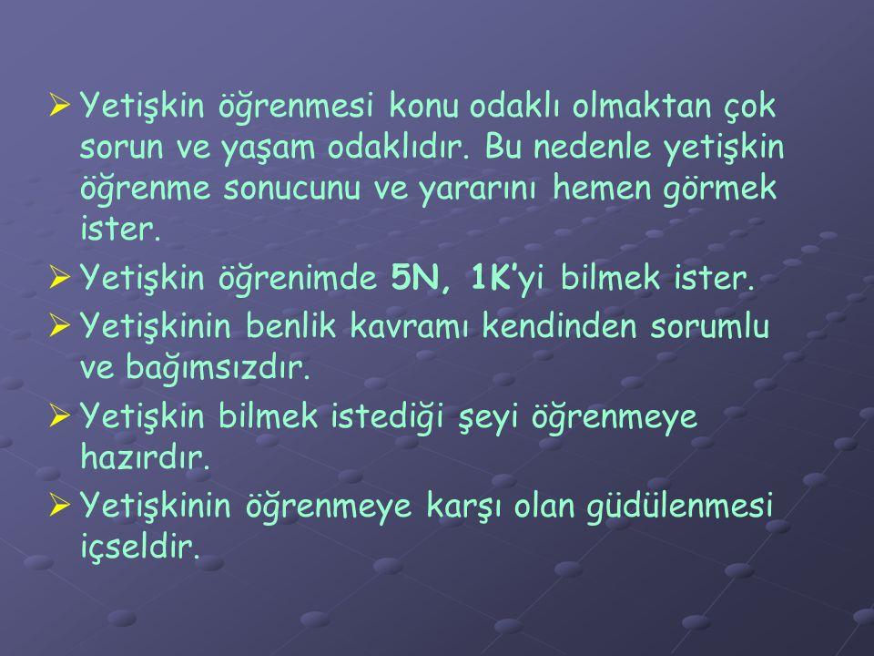 YETİŞKİN EĞİTİMCİ NASIL OLMALIDIR.