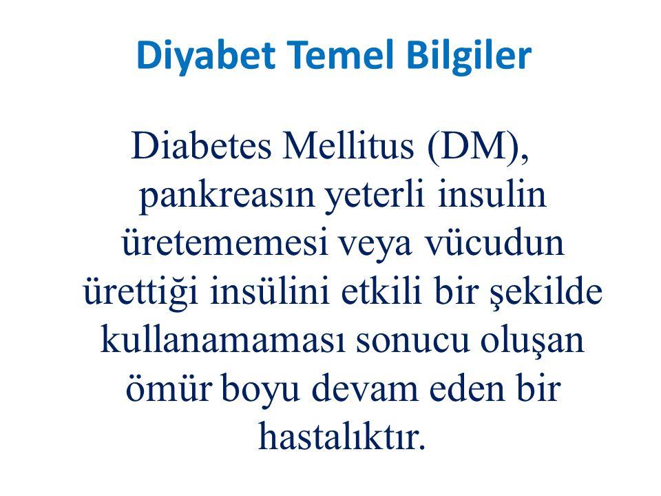 Diabetes Mellitus (DM), pankreasın yeterli insulin üretememesi veya vücudun ürettiği insülini etkili bir şekilde kullanamaması sonucu oluşan ömür boyu devam eden bir hastalıktır.