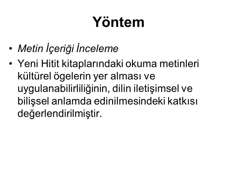 Örneklem Yeni Hitit Yabancılar İçin Türkçe ders kitapları Avrupa Konseyi'nin Ortak Avrupa Çerçevesi adlı kılavuz doğrultusunda A1-A2 (Temel), B1 (Orta) ve B2-C1 (Yüksek) düzeyde hazırlanmıştır.