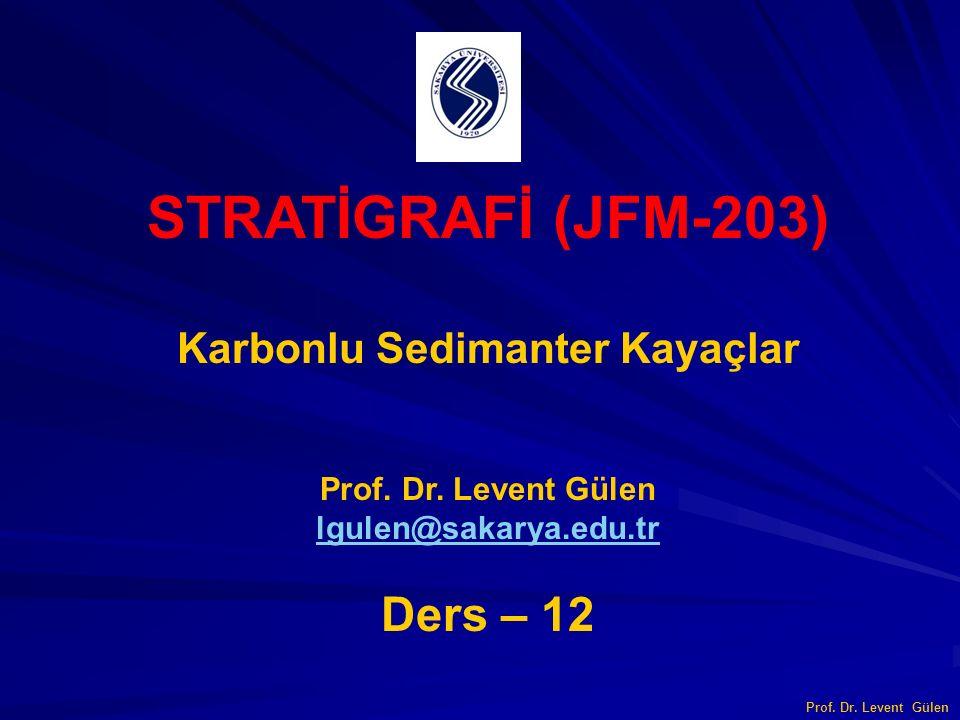 STRATİGRAFİ (JFM-203) Karbonlu Sedimanter Kayaçlar Prof. Dr. Levent Gülen lgulen@sakarya.edu.tr Ders – 12 Prof. Dr. Levent Gülen