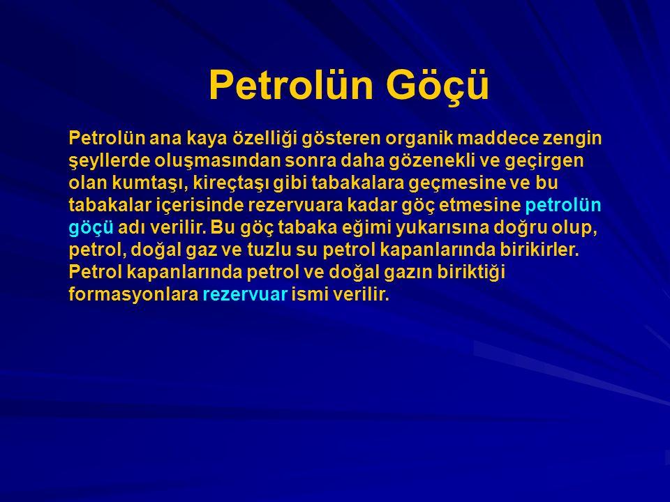 Petrol ve doğal gazın göçü iki etapta gerçekleşir.