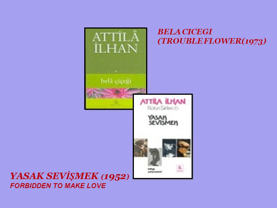 BÖYLE BİR SEVMEK TO LOVE LIKE THIS (1977) KİMİ SEVSEM SENSİN WHOEVER I LOVE IS YOU (2002) T UTUKLUNUN GÜNLÜĞÜ THE PRISONER'S DIARY ( 1973)