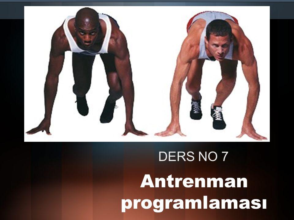 GÜNLÜK ANTRENMAN PLANI Günlük antrenman (ders) kullanılan ana organizasyon aracıdır Antrenör sporcu ile bilgi alışverişinde bulunarak hangi antrenman faktörünün geliştirileceği konusunu belirler