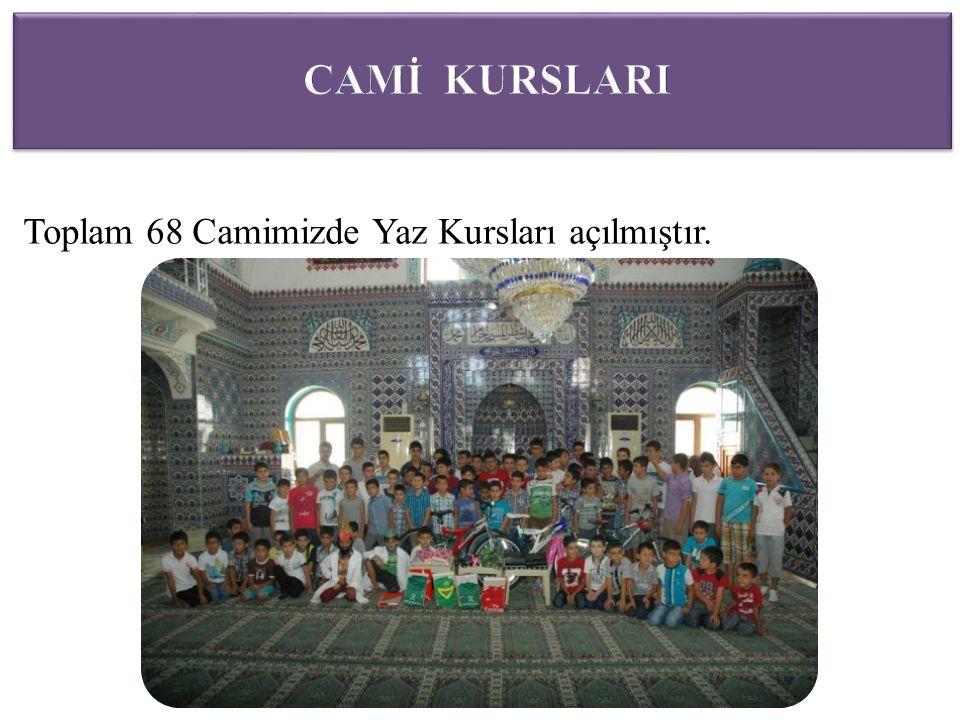 Toplam 68 Camimizde Yaz Kursları açılmıştır.