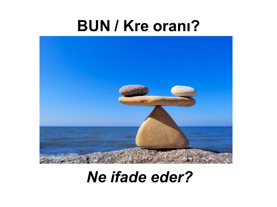 BUN / Kre oranı Ne ifade eder