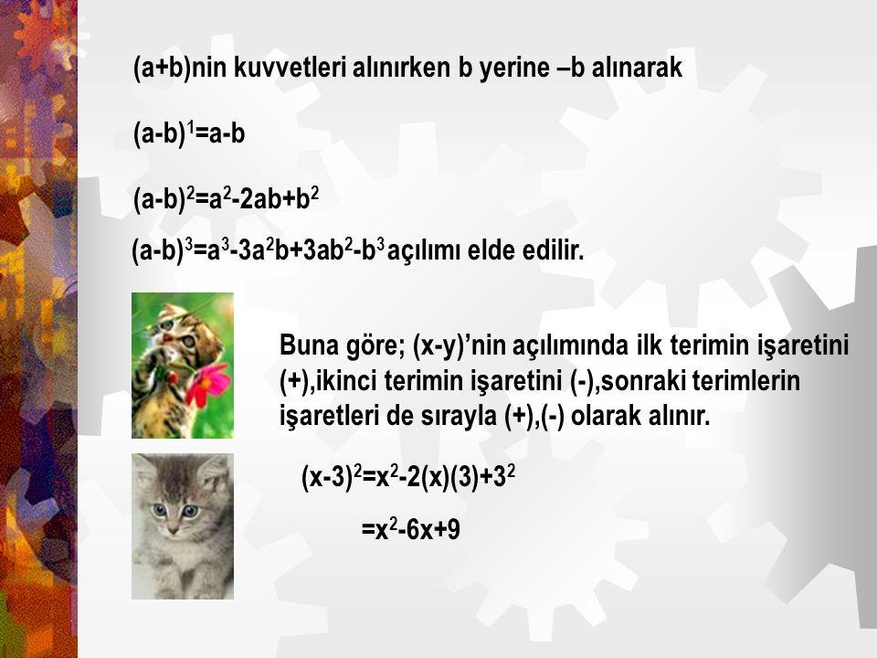 Pascal üçgeninin her satırındaki sayılar (a+b)'nin tam kuvvetlerinin hesaplanışındaki terimlerin katsayılarıdır. O halde: (a+b) 0 =1 1 (a+b) 1 =1.a+1.