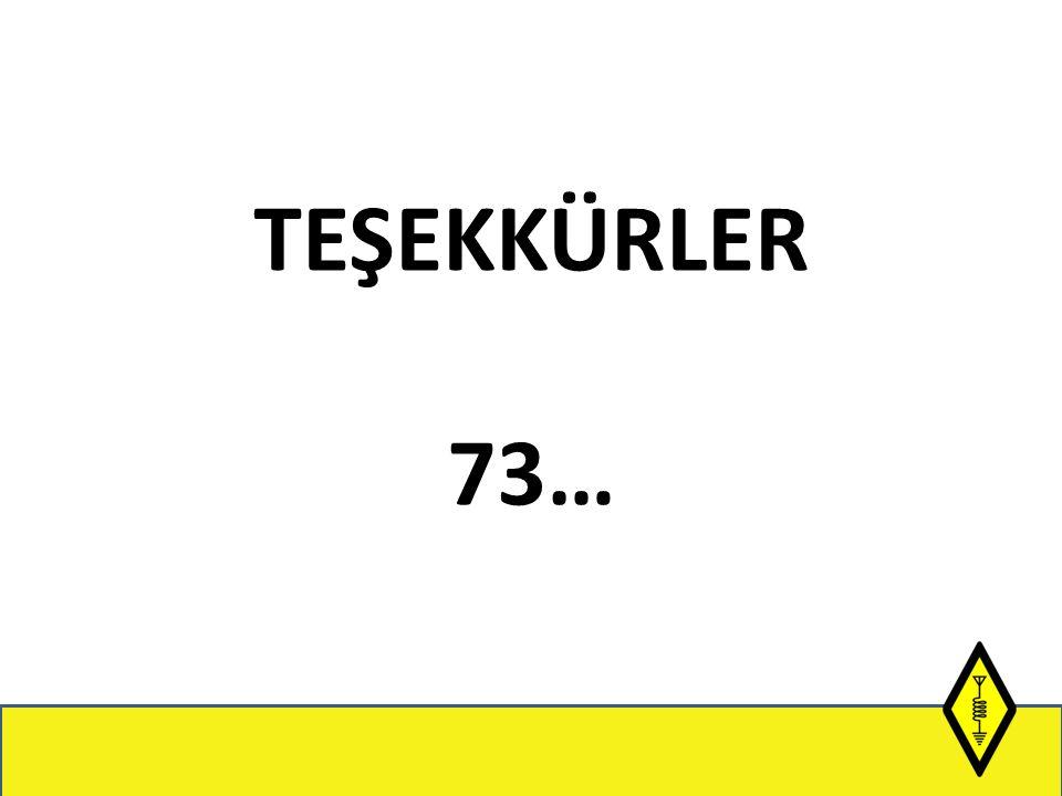 TEŞEKKÜRLER 73…
