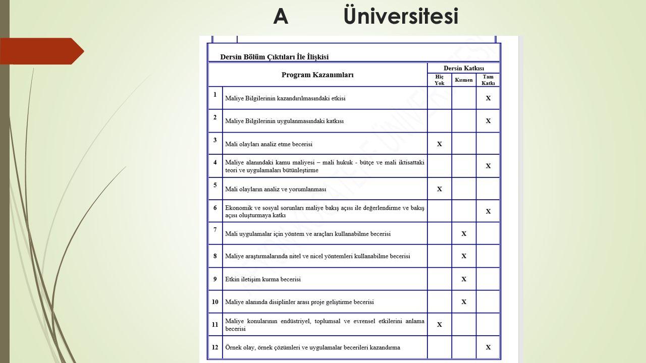 A Üniversitesi