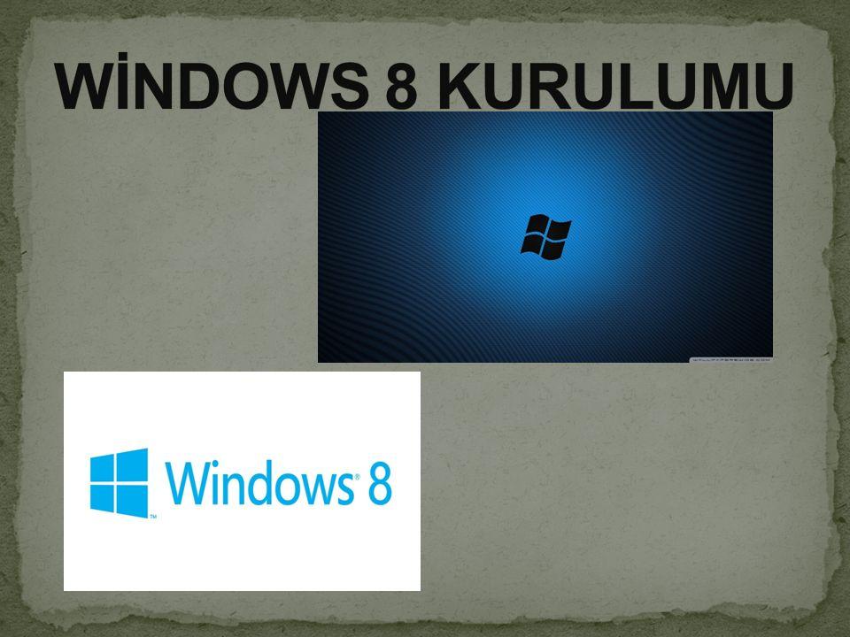 Ve sonunda Windows 8 kurulumu işlemi tamamlandı. Artık bilgisayar sizden komut bekliyor.