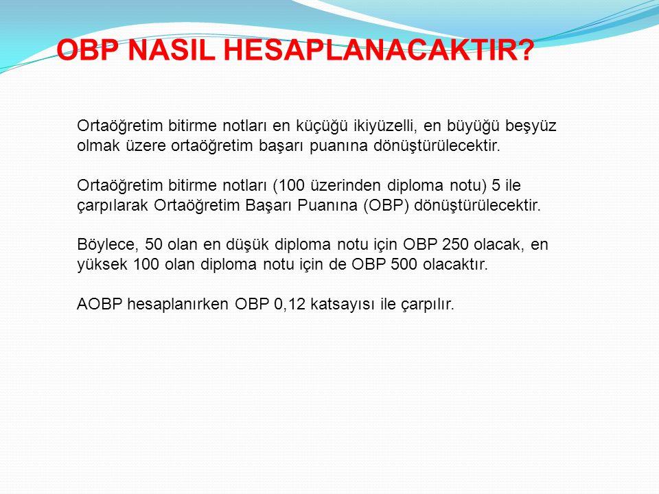 OBP NASIL HESAPLANACAKTIR.