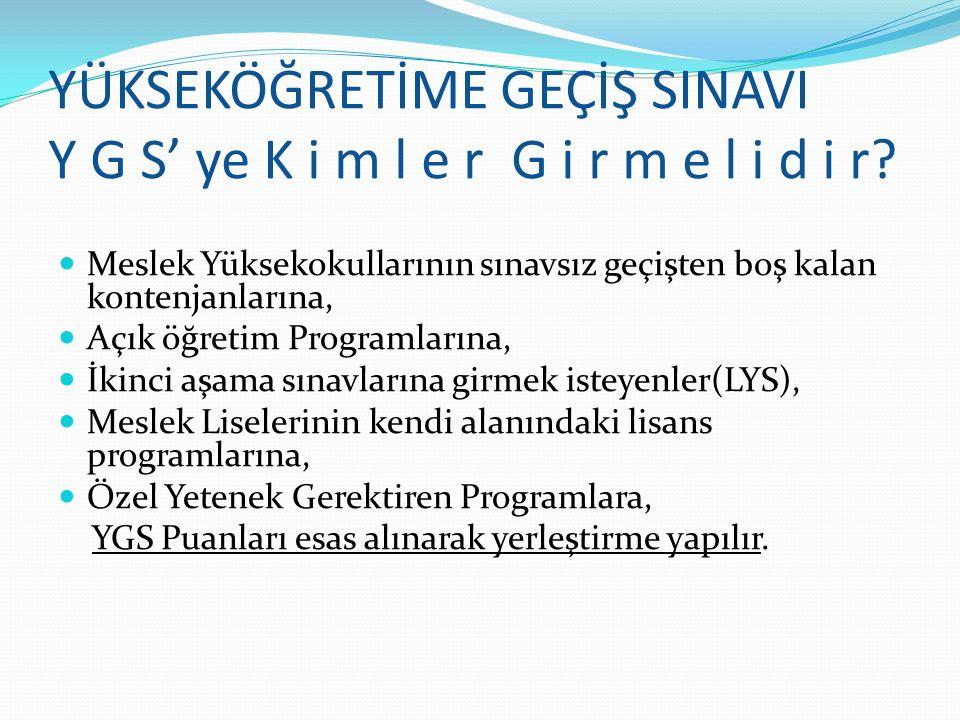 YGS % 40 YGS % 40 TS-1 Puanı Halkla İlişkiler,Reklamcılık,İletişim, Medya ve İletişim,Gazetecilik, Radyo Televizyon ve Sinema TS-2 Puanı Türkçe Öğretmenliği,Türk Dili ve Edebiyatı Öğretmenliği,Tarih,Tarih Öğretmenliği,Sanat Tarihi Testlerin Oranları LYS-3 T.Ed-% 15 Coğ-1- % 8 % 23 LYS- 4 Tar % 15 Coğ-2 %7 Fels gr.