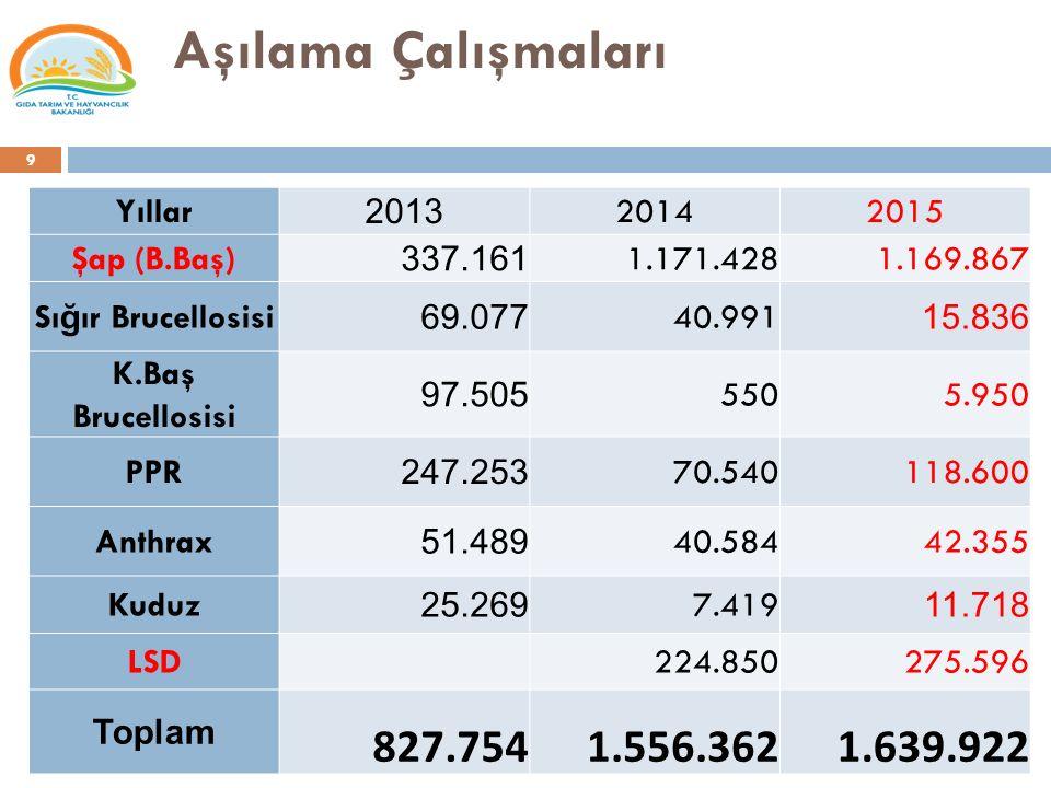 Tarımsal Destekler (milyon TL)  2015 yılında ulusal desteklemeler dışında bölgesel kaynakları azami kullanarak 95 milyon TL ye ulaşılması beklenmektedir.