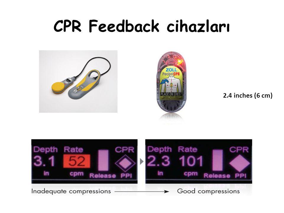 CPR Feedback cihazları 2.4 inches (6 cm)