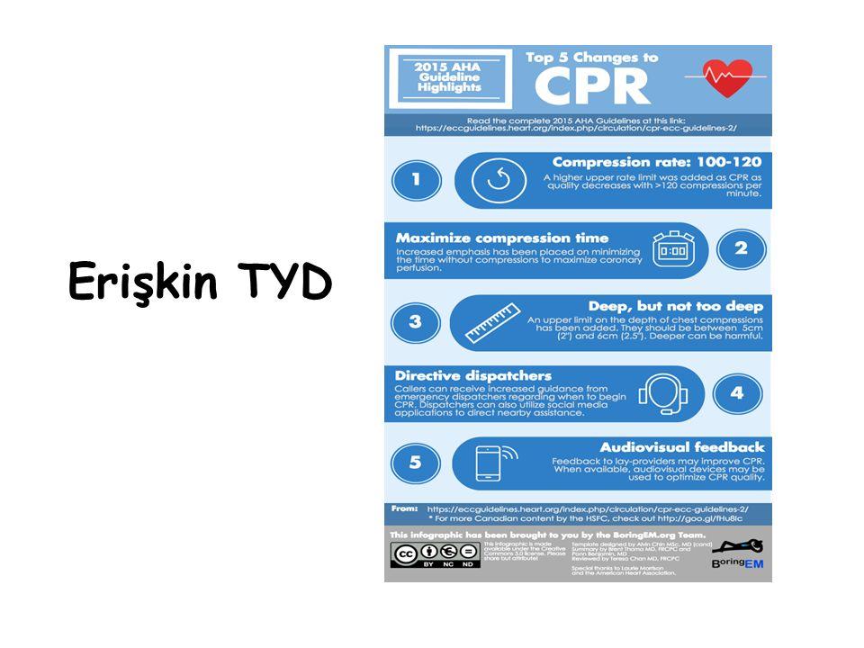 Ultrasound Endotrakeal tüpün yerin teyid edilmesi Myokardial kontraktilitenin değerlendirilmesi Asla USG sırasında KPR'ye ara verilmemeli !!!