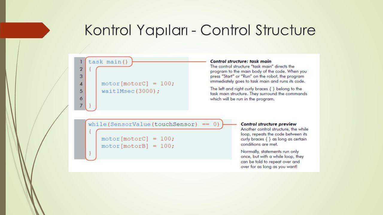 Kontrol Yapıları - Control Structure