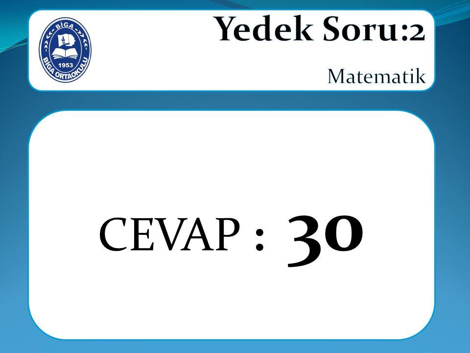 CEVAP : 30
