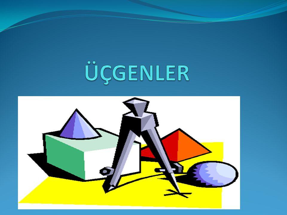 Bir üçgendeki iç açıların ölçüleri toplamı 180 derecedir.Bir üçgenin dış açılarının ölçüleri toplamı 360 derecedir.