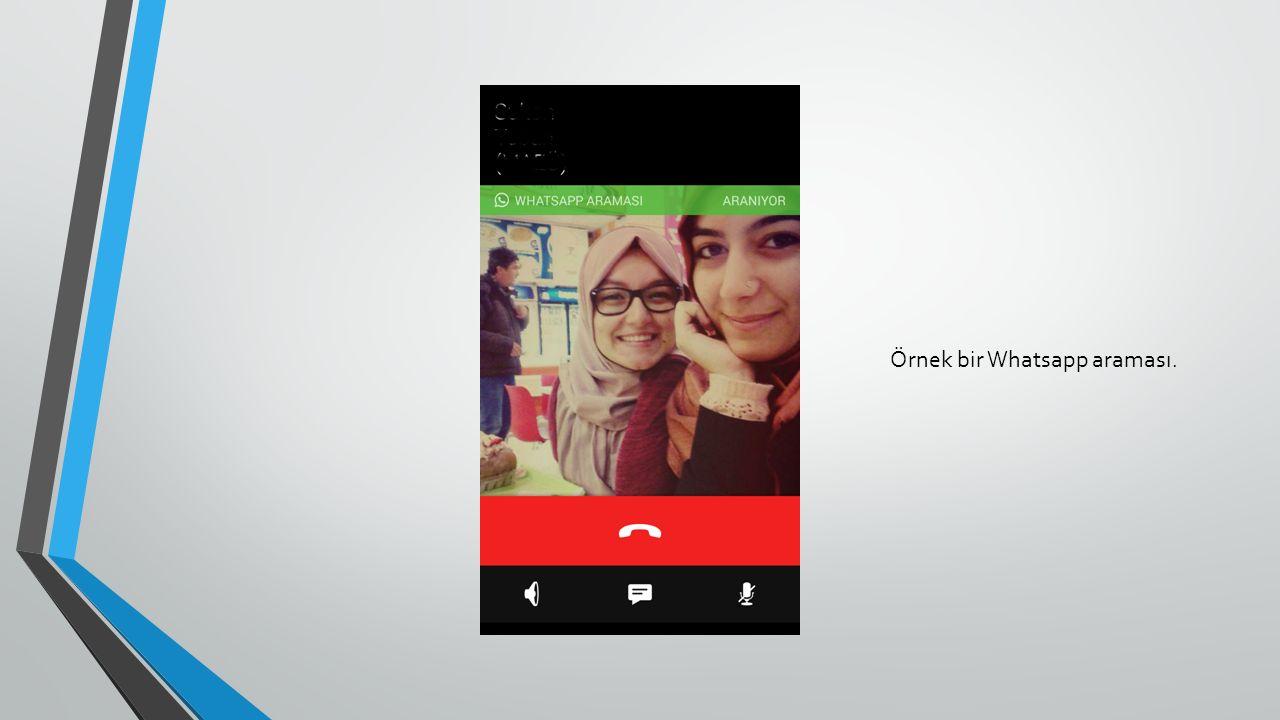 Örnek bir Whatsapp araması.