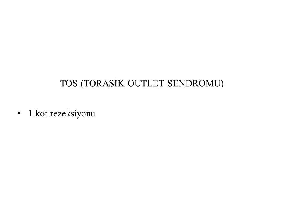 TOS (TORASİK OUTLET SENDROMU) 1.kot rezeksiyonu