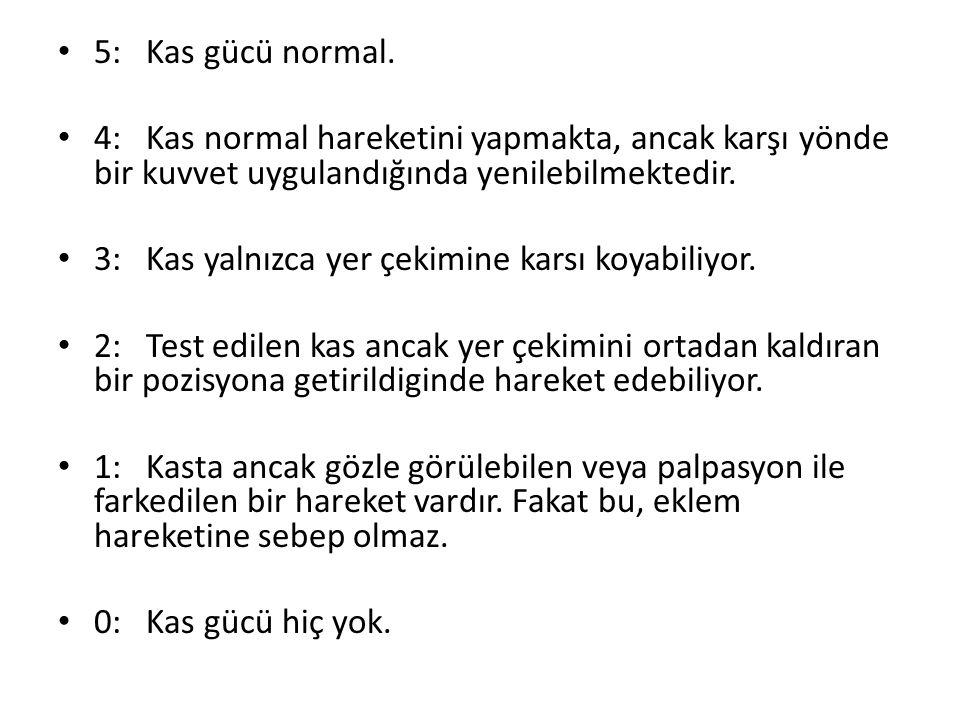 5: Kas gücü normal.