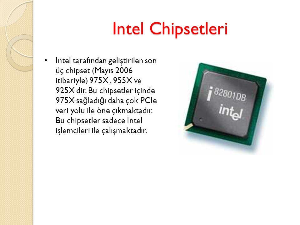 Intel Chipsetleri Intel tarafından geliştirilen son üç chipset (Mayıs 2006 itibariyle) 975X, 955X ve 925X dir. Bu chipsetler içinde 975X sa ğ ladı ğ ı