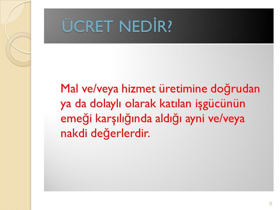 ÜCRET NED İ R.