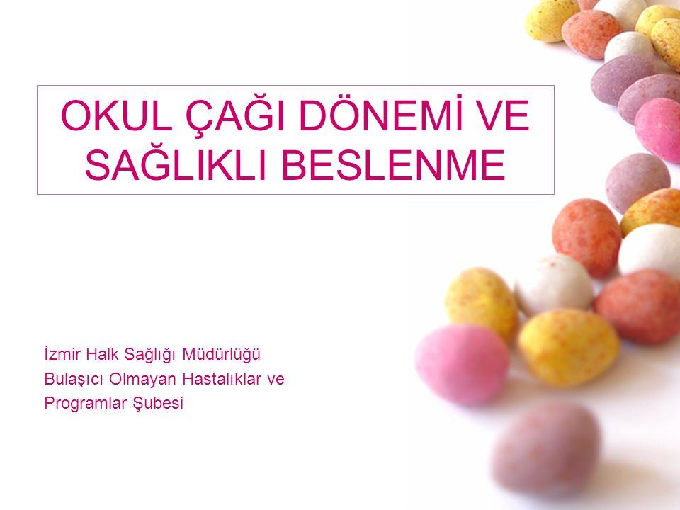 OKUL ÇAĞI DÖNEMİ VE SAĞLIKLI BESLENME İzmir Halk Sağlığı Müdürlüğü Bulaşıcı Olmayan Hastalıklar ve Programlar Şubesi