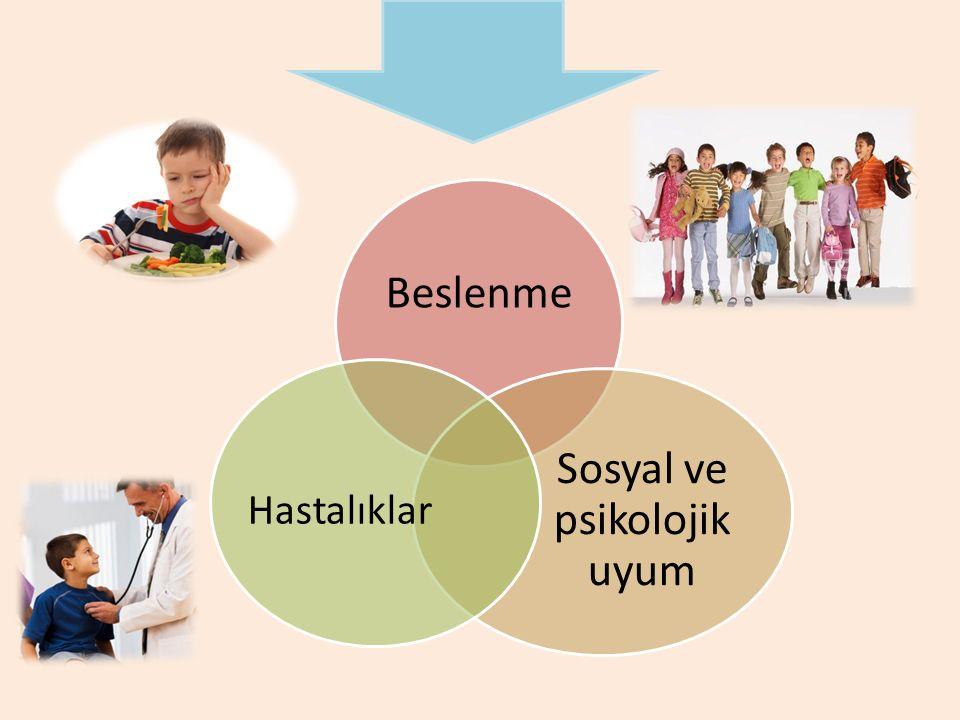 Beslenme Sosyal ve psikolojik uyum Hastalıklar