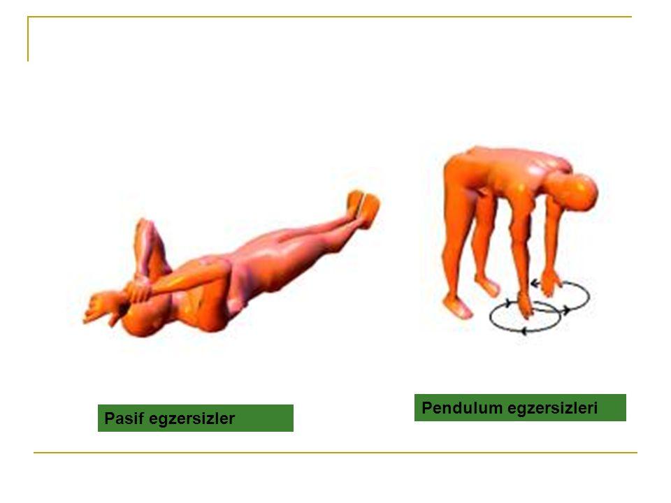 Pasif egzersizler Pendulum egzersizleri