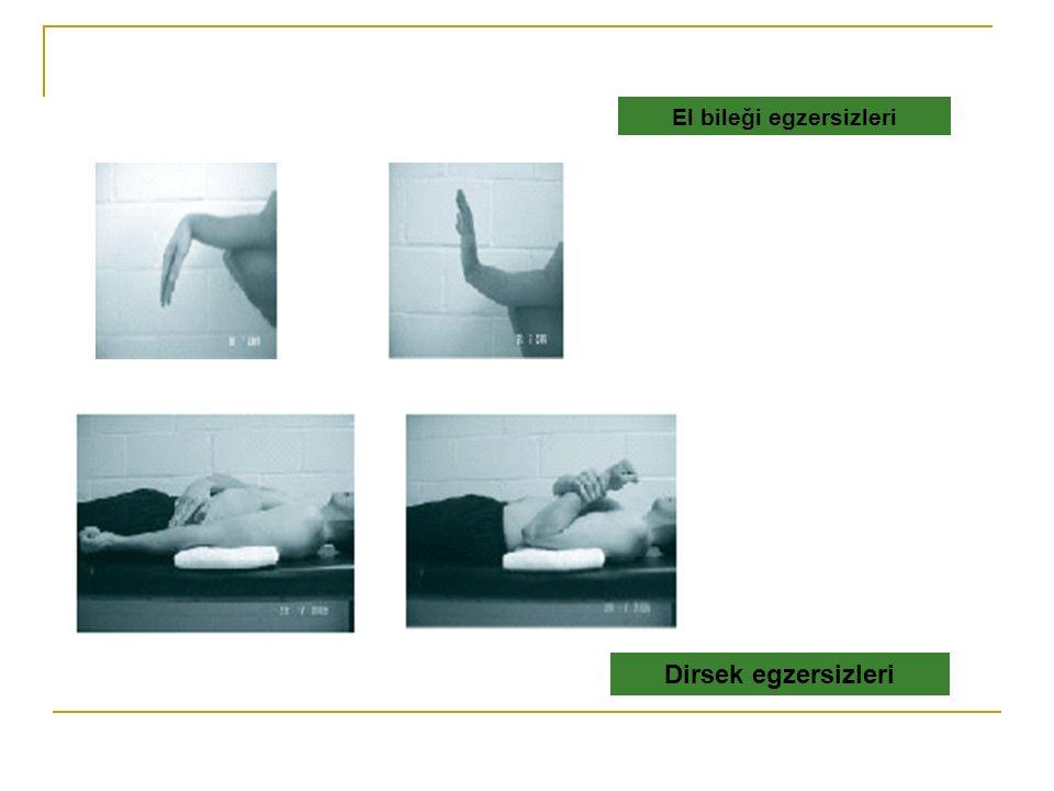 El bileği egzersizleri Dirsek egzersizleri