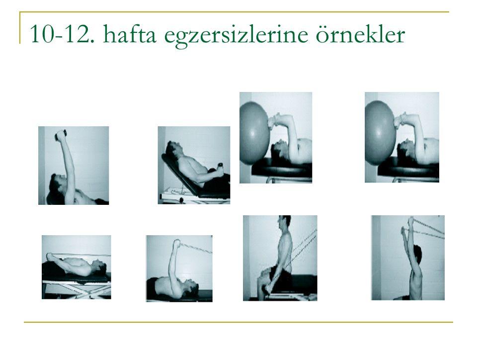 10-12. hafta egzersizlerine örnekler