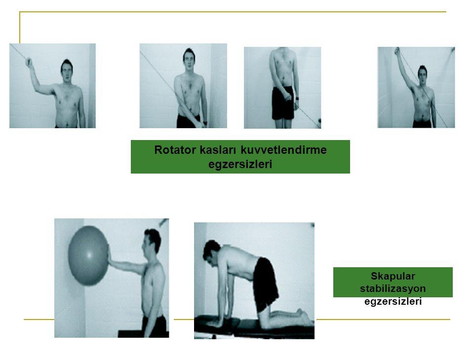 Rotator kasları kuvvetlendirme egzersizleri Skapular stabilizasyon egzersizleri