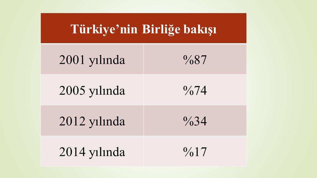 Türkiye'yi Avrupalılaşma ve Demokratikleşme yolunda destekleme konusunda uzlaşı 2004 yılı Brüksel Zirvesi*; 'Katılım müzakereleri başarıyla sonuçlanmaması ama her iki tarafın da daha derin entegrasyon isteğini belirtmesi halinde söz konusu ülkenin AB'ye en sıkı bağlarla bağlanması temin edilmelidir'