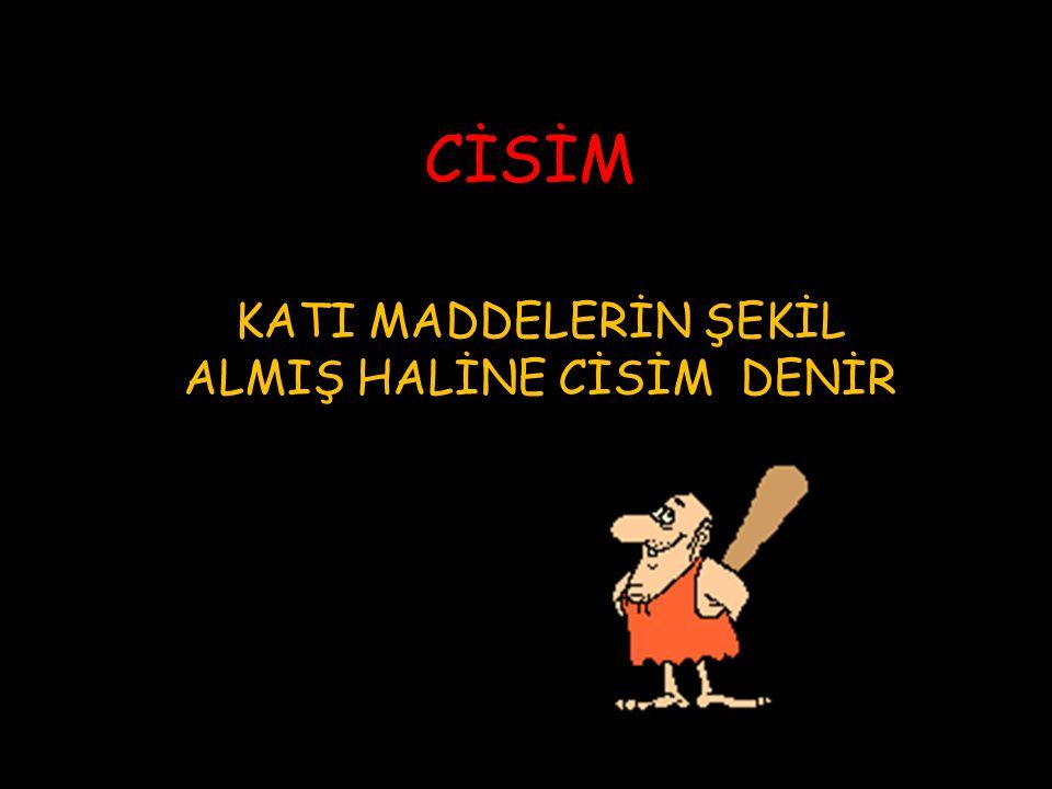 MADDE CİSİM