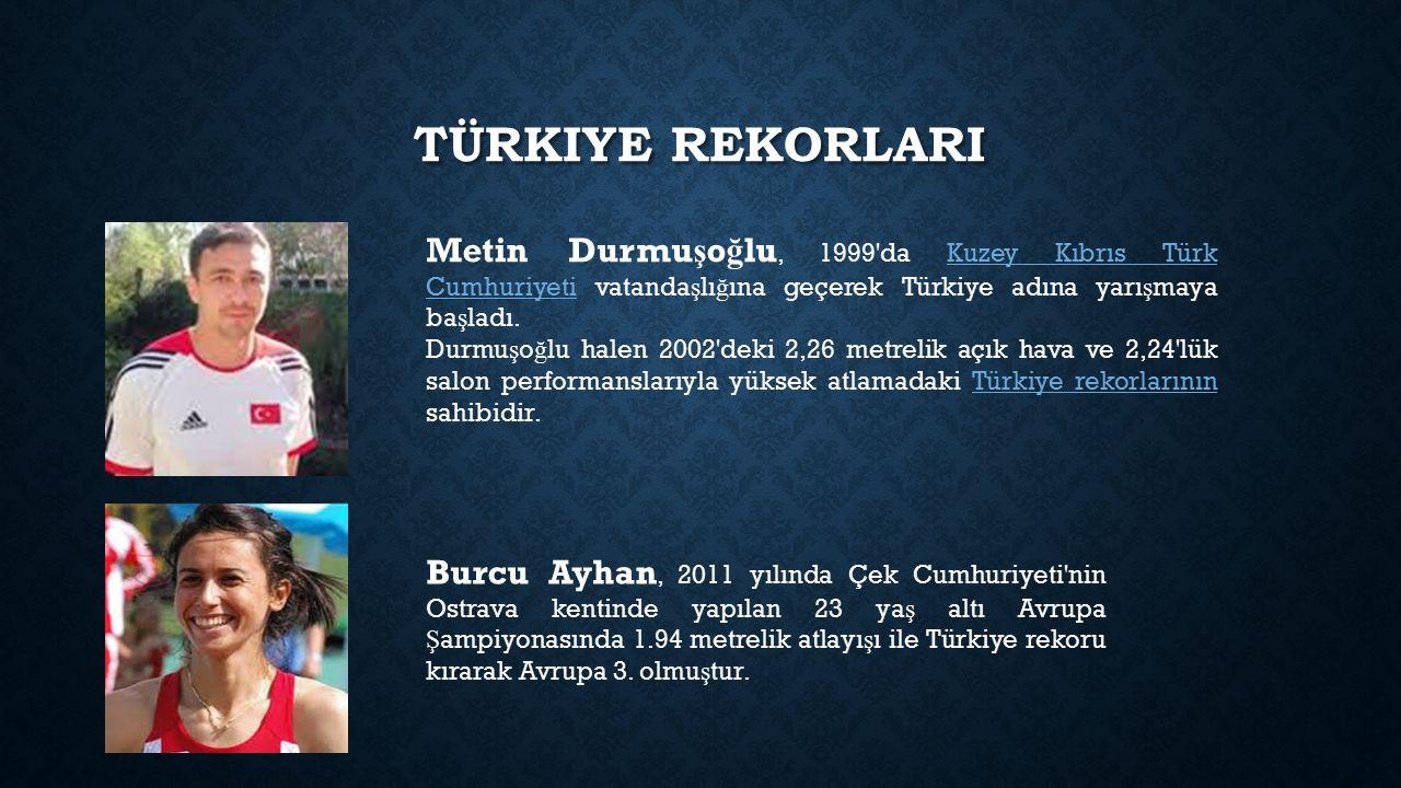 TÜRKIYE REKORLARI Metin Durmu ş o ğ lu, 1999'da Kuzey Kıbrıs Türk Cumhuriyeti vatanda ş lı ğ ına geçerek Türkiye adına yarı ş maya ba ş ladı.Kuzey Kıb