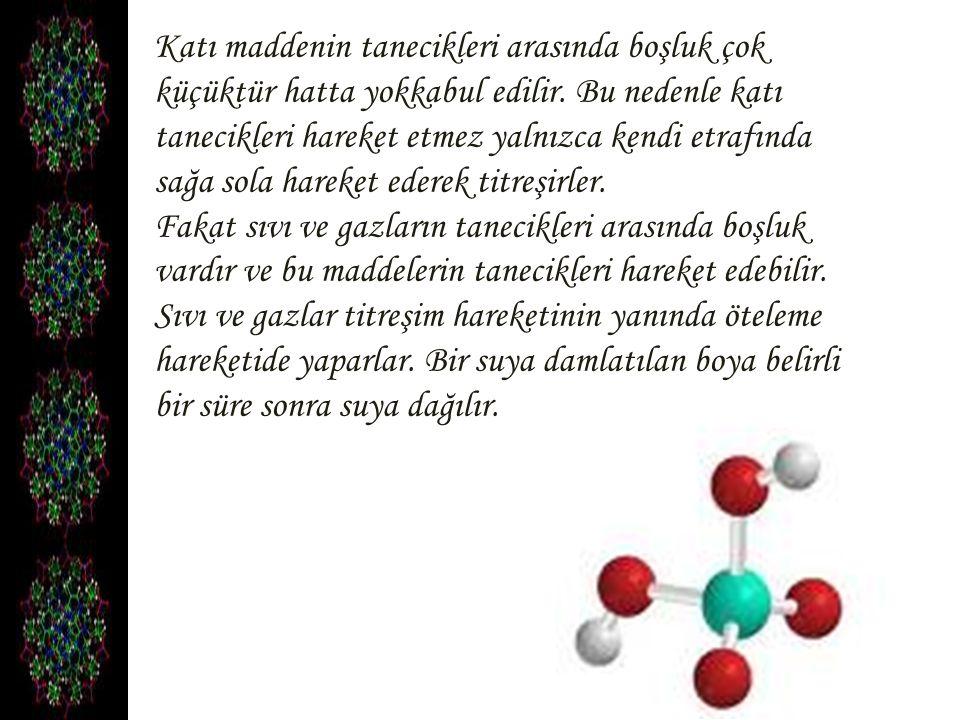 Çünkü su tanecikleri öteleme hareketi yaparak boya moleküllerini ve kendi moleküllerini hareket ettirir.
