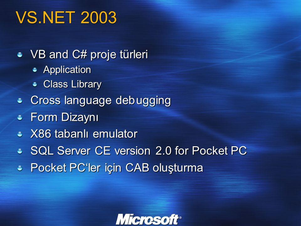 Microsoft ActiveSync 4.0 Kolay kurulum ve kullanım Yeni ortaklık sihirbazları ve başlarken CD si Geliştirilmiş durum ve ayarlar arayüzü Geliştirilmiş hata ayıklama ve kolaylaştırılmış mesajlar Senkronizasyon için daha fazla yol Hızlı USB 2.0 desteği Bluetooth desteği Geliştirilmiş Kontak senkronizasyonu Resimler için destek Yeni 10 kontak özelliği Windows Mobile 5.0