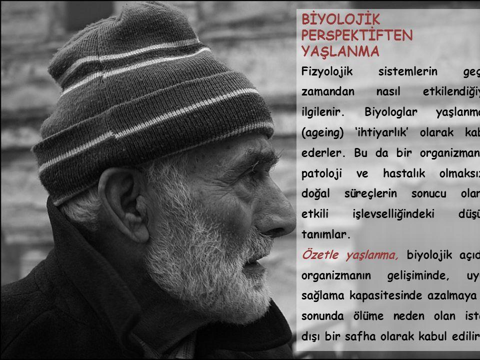 TÜRKİYE'DE YAŞLANMA VE SOSYAL GÜVENLİK Türkiye genç bir nüfusa sahip bir ülkedir fakat nüfusu giderek yaşlanmaktadır.