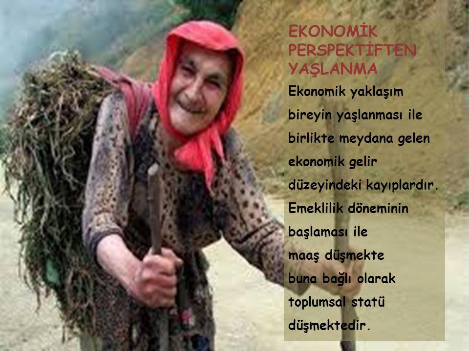 SOSYOLOJİK VE SOSYAL GERONTOLOJİK PERSPEKTİFTEN YAŞLANMA Sosyolojik yaşlanma, bireyin statü ve rol kayıpları çerçevesinde, içinde bulunduğu toplumun yaşa ilişkin olarak geliştirdiği normlar ve değerler bağlamındaki yargılarıdır, değerlendirmeleridir.