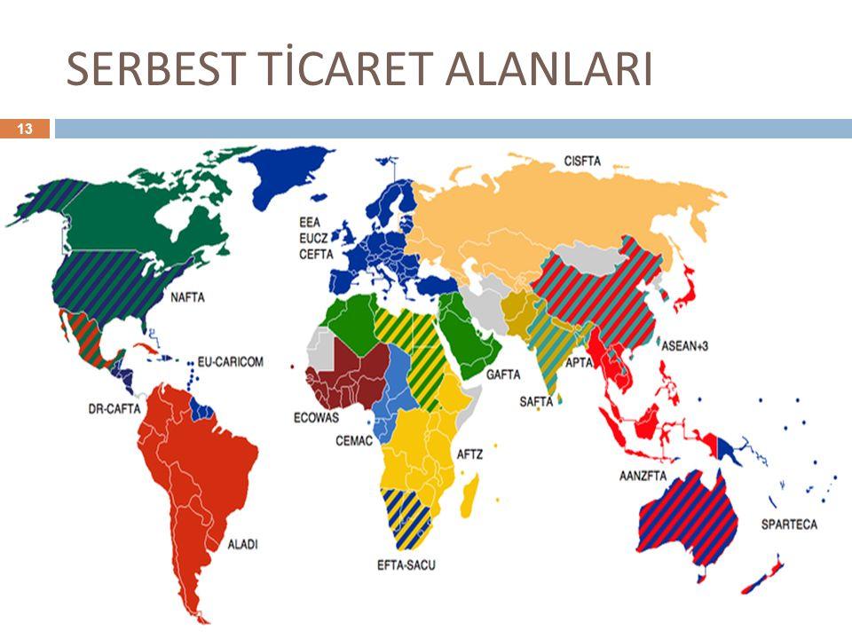 SERBEST TİCARET ALANLARI 13