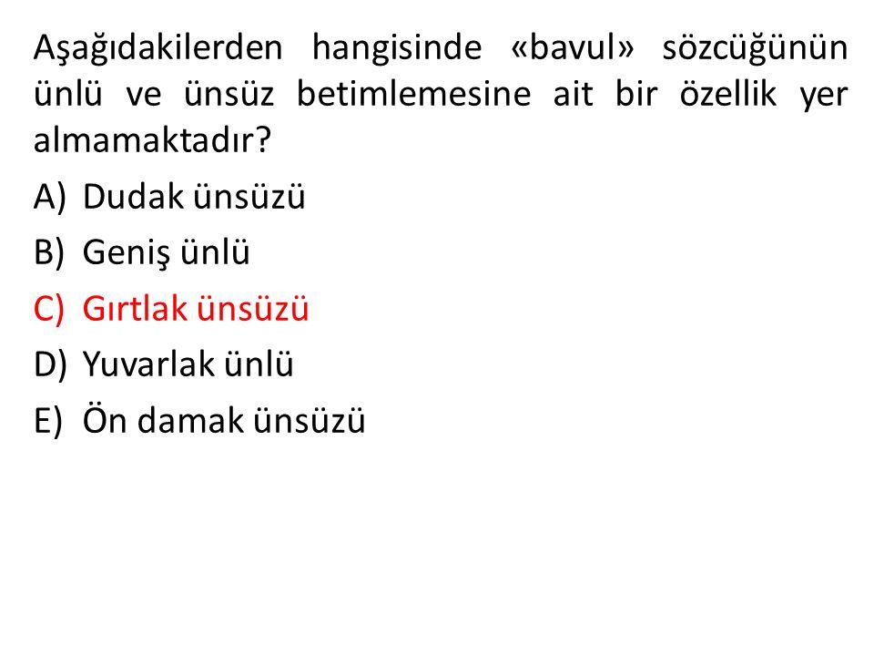 Aşağıdakilerden cümlelerin hangisinde deyim aktarmasına (tabiattan insana) örnek verilmiştir.