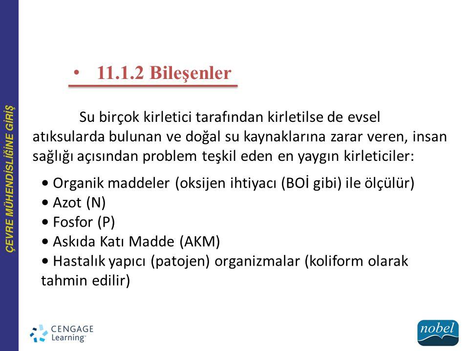 Şekil 11.2 Ön arıtma, birincil arıtma, ikincil arıtma, ileri (üçüncül) arıtma ve çamur arıtma proseslerini gösteren tipik konvansiyonel atıksu arıtma tesisi.