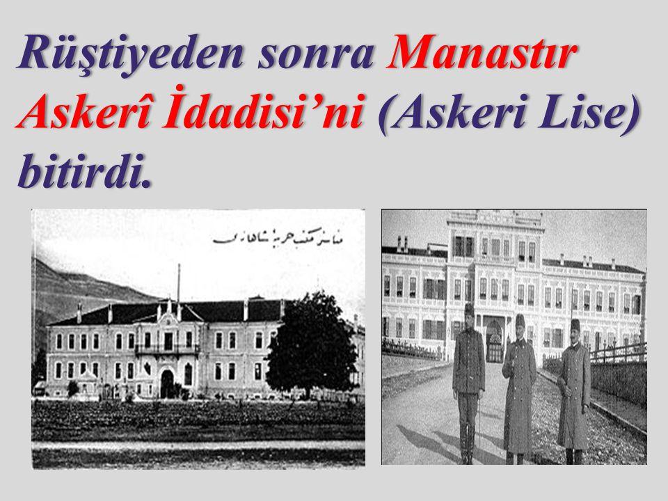 Askeri Lise'yi bitirdikten sonra İstanbul Harp Okulu'na başladı.Buradan teğmen olarak mezun oldu.