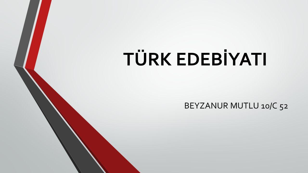 İSLAMİYET ÖNCESİ TÜRK EDEBİYATI İslamiyet'ten önceki Türk edebiyatını genel olarak iki ana başlık altında inceleyebiliriz: 1.