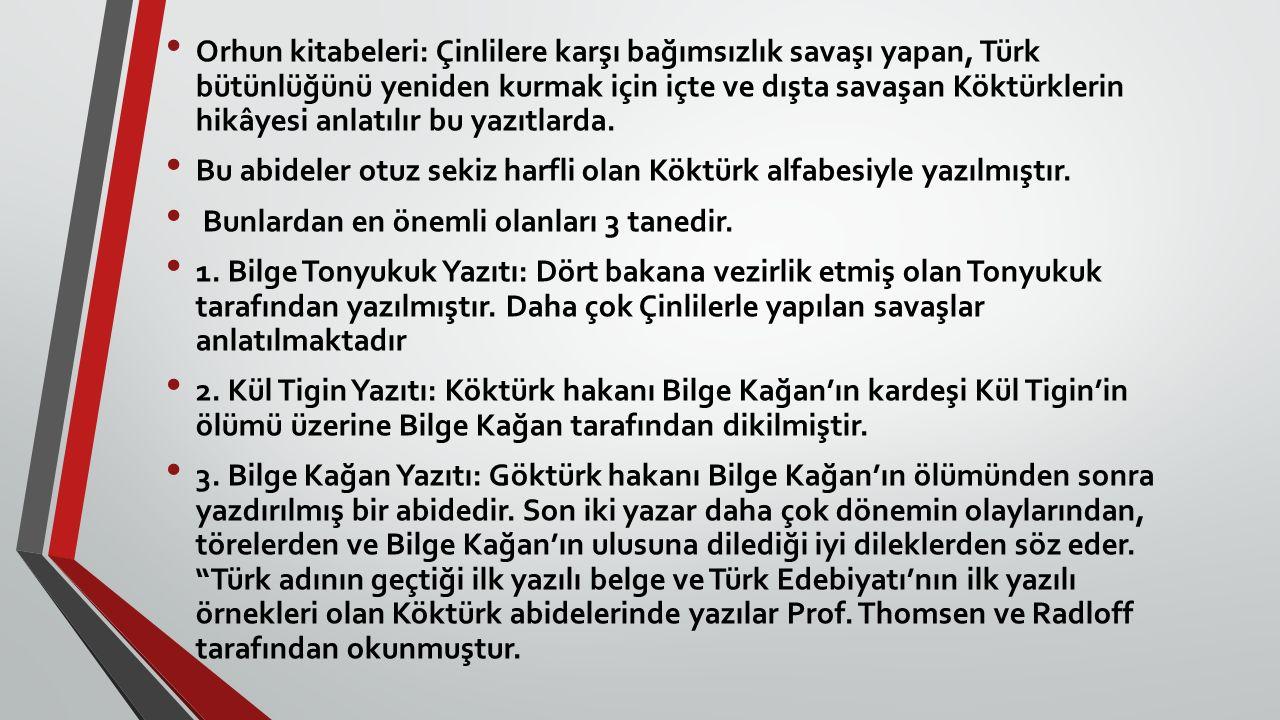 İSLAMİYET ETKİSİNDE GELİŞEN TÜRK EDEBİYATI Türkler onuncu yüzyıldan itibaren kitleler halinde İslamiyet i kabul etmeye başlamışlardır.