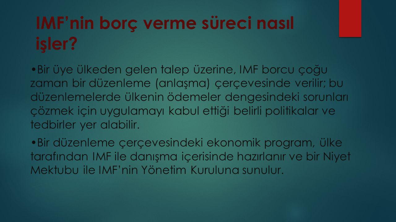 IMF'nin borç verme süreci nasıl işler.