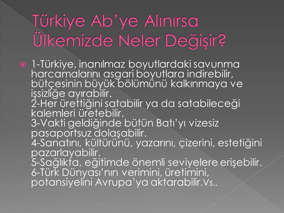  1-Türkiye, inanılmaz boyutlardaki savunma harcamalarını asgari boyutlara indirebilir, bütçesinin büyük bölümünü kalkınmaya ve işsizliğe ayırabilir.