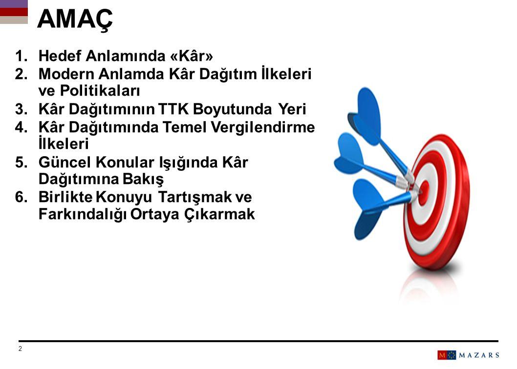 GÜNCEL KONULAR IŞIĞINDA KÂR DAĞITIMINA BAKIŞ Date 33 Titre de la présentation Number can be customized as follows: Select the text and change the number 05