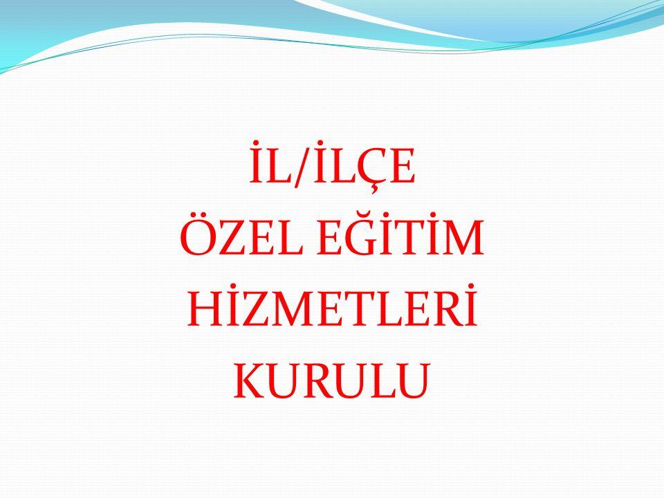 İL/İLÇE ÖZEL EĞİTİM HİZMETLERİ KURULU